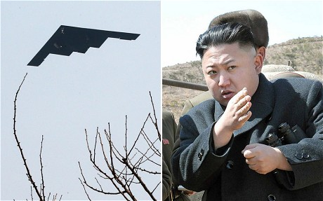 "B-2's drop fake bombs on 13,000 mile road trip as Jong-un asks ""where do they get those wonderful toys?"""