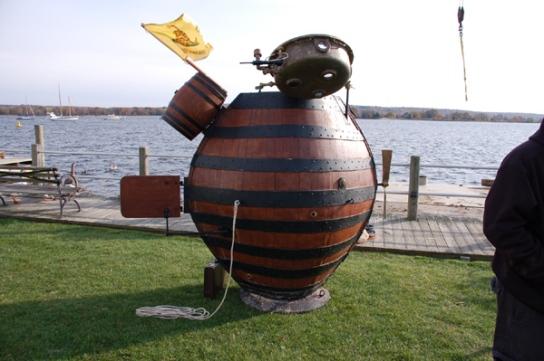 Turtle replica at Essex, Connecticut