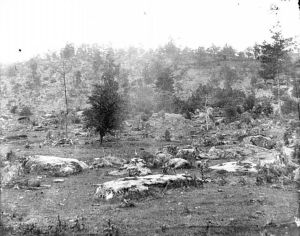 Little Round Top, the Western Slope - after the Battle of Gettysburg, July, 1863 (click image to enlarge)